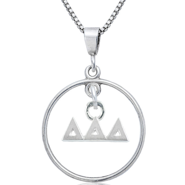 Sorority Delta Delta Delta Open Drop Necklace