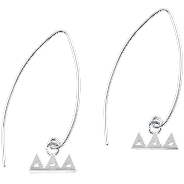 Sorority Delta Delta Delta Long Fishhook Earrings