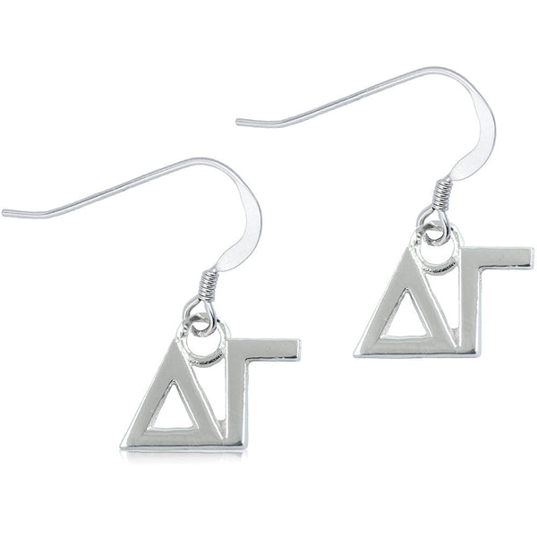 Sorority Delta Gamma Sterling Silver Dangle Earrings