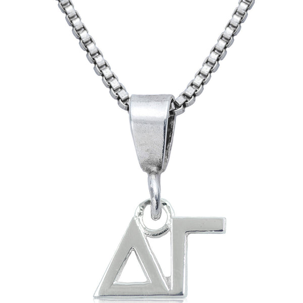 Sorority Delta Gamma Sterling Silver Necklace