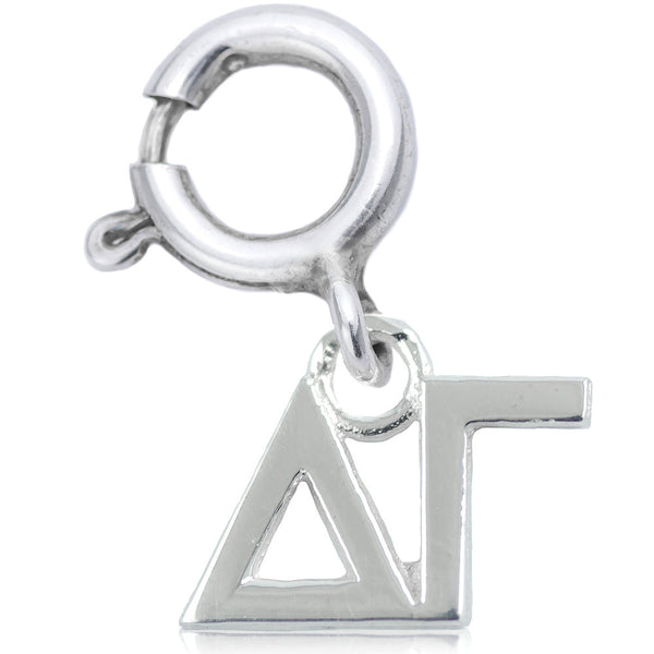 Sorority Delta Gamma Charm in Sterling Silver