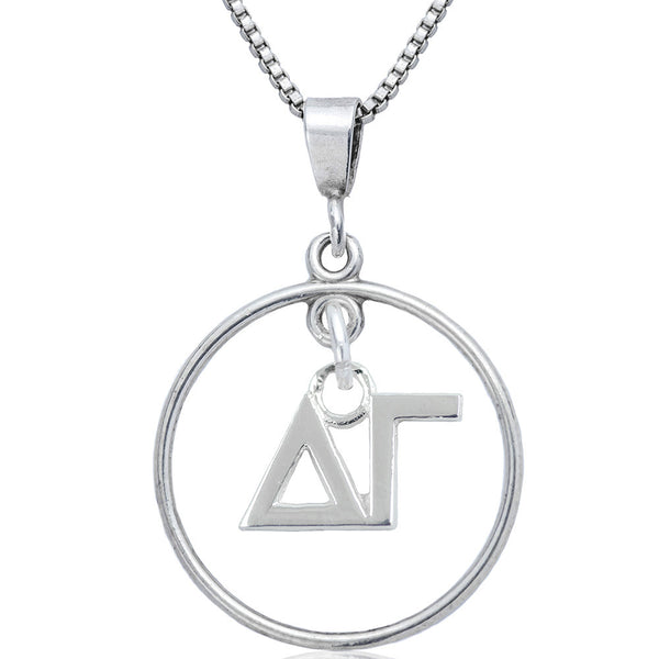 Sorority Delta Gamma Open Drop Necklace