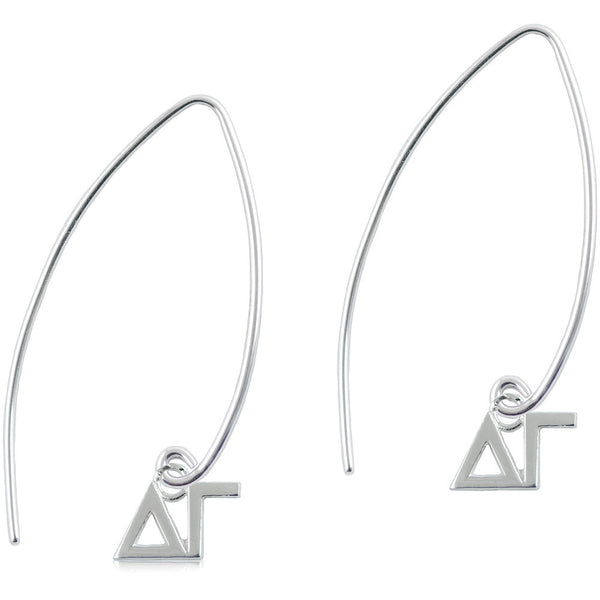 Sorority Delta Gamma Long Fishhook Earrings