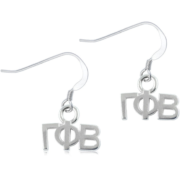 Sorority Gamma Phi Beta Sterling Silver Dangle Earrings