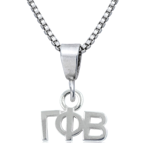 Sorority Gamma Phi Beta Sterling Silver Necklace