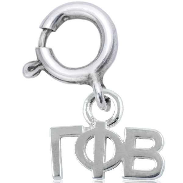 Sorority Gamma Phi Beta Charm in Sterling Silver