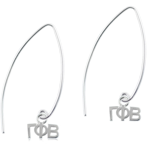 Sorority Gamma Phi Beta Long Fishhook Earrings