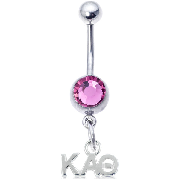 Sorority Kappa Alpha Theta Pink Belly Button Ring