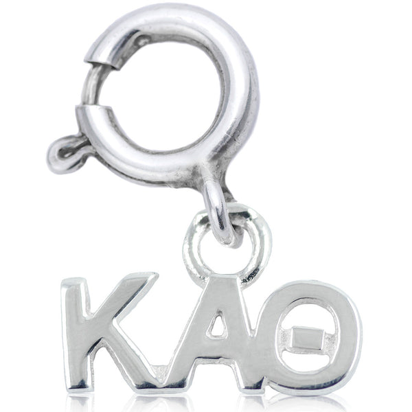 Sorority Kappa Alpha Theta Charm in Sterling Silver