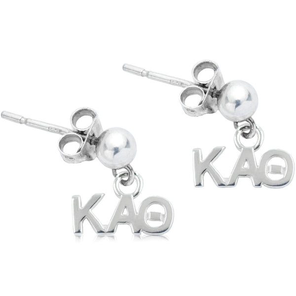 Sorority Kappa Alpha Theta Post Dangle Earrings