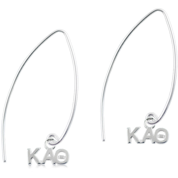 Sorority Kappa Alpha Theta Long Fishhook Earrings