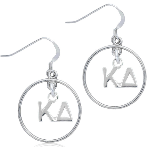 Sorority Kappa Delta Open Drop Earrings