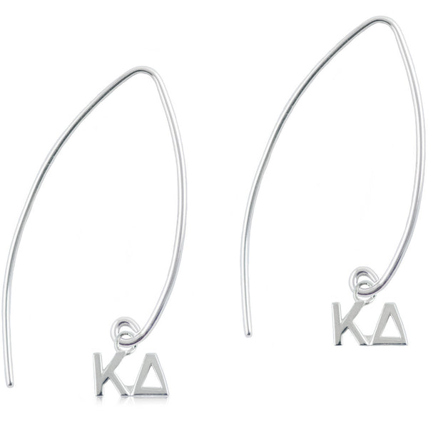 Sorority Kappa Delta Long Fishhook Earrings