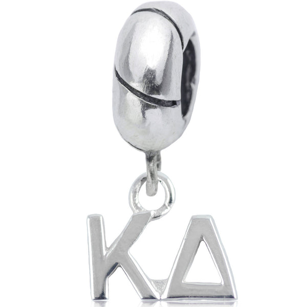 Sorority Kappa Delta Sterling Silver Slider Bead