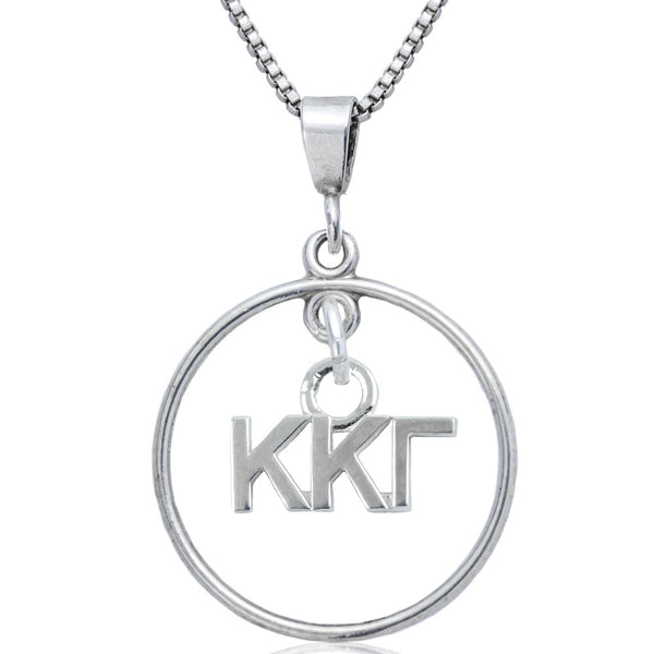 Sorority Kappa Kappa Gamma Open Drop Necklace