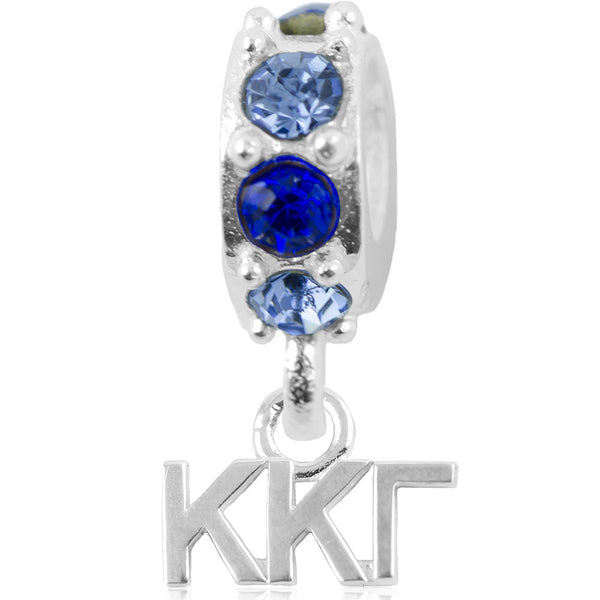 Sorority Kappa Kappa Gamma Spirit Sterling Silver Slider Bead