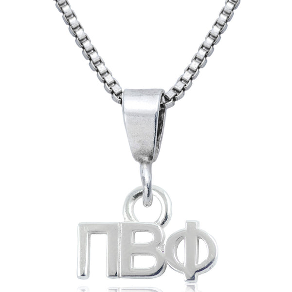 Sorority Pi Beta Phi Sterling Silver Necklace