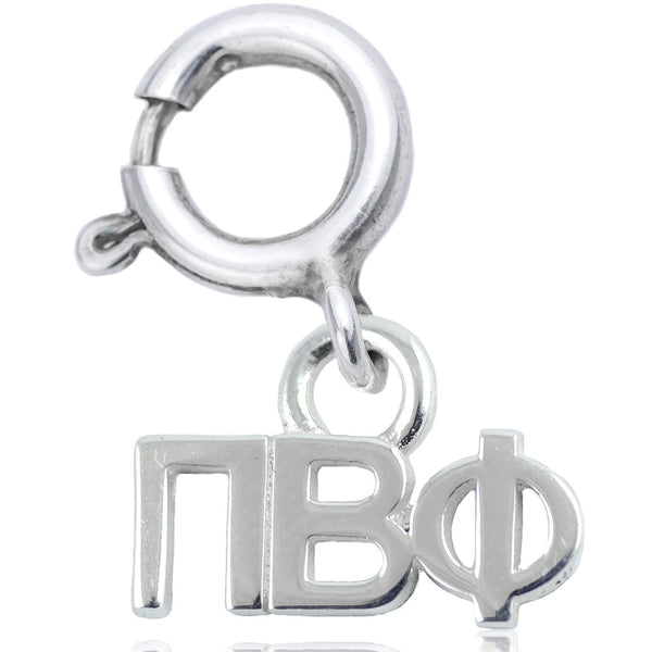 Sorority Pi Beta Phi Charm in Sterling Silver
