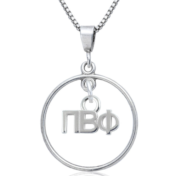 Sorority Pi Beta Phi Open Drop Necklace