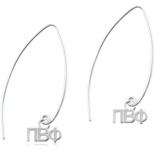 Sorority Pi Beta Phi Long Fishhook Earrings