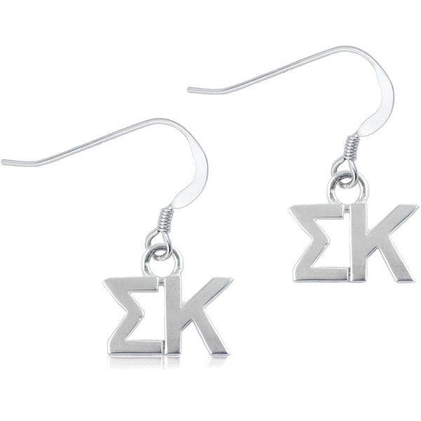 Sorority Sigma Kappa Sterling Silver Dangle Earrings