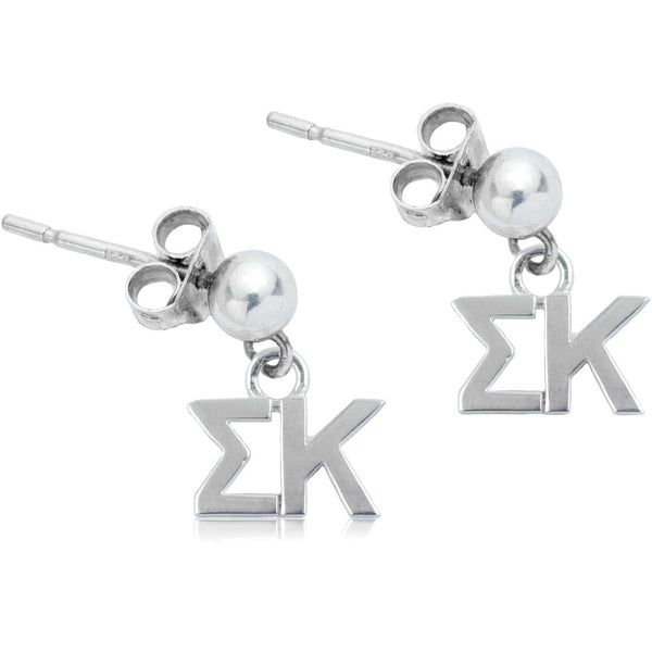 Sorority Sigma Kappa Post Dangle Earrings