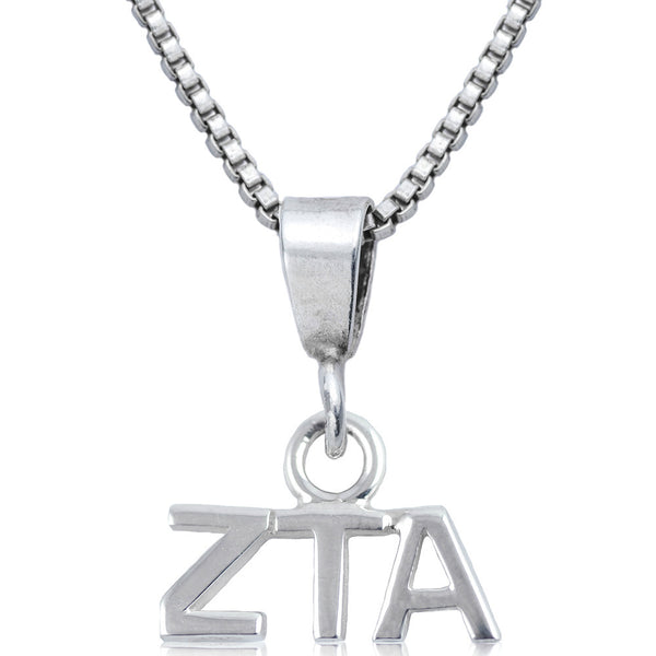 Sorority Zeta Tau Alpha Sterling Silver Necklace