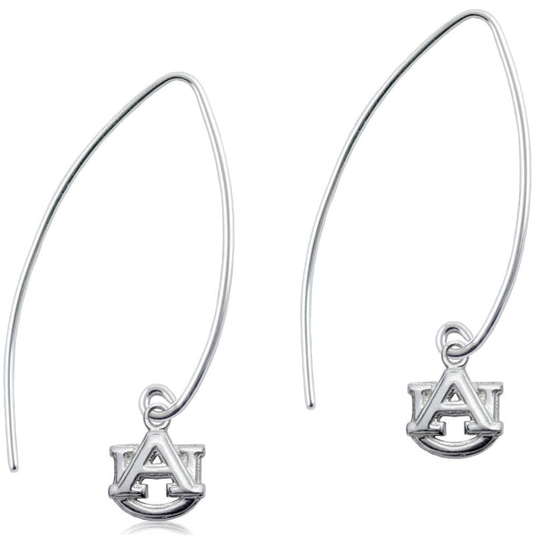 Collegiate Auburn University  Long Fishhook Earrings