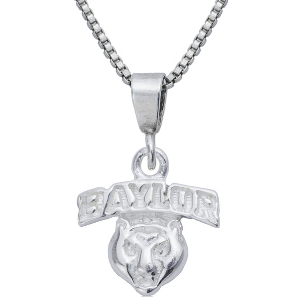 Collegiate Baylor University Bear Mascot Necklace
