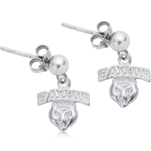 Collegiate Baylor University Post Dangle Earrings