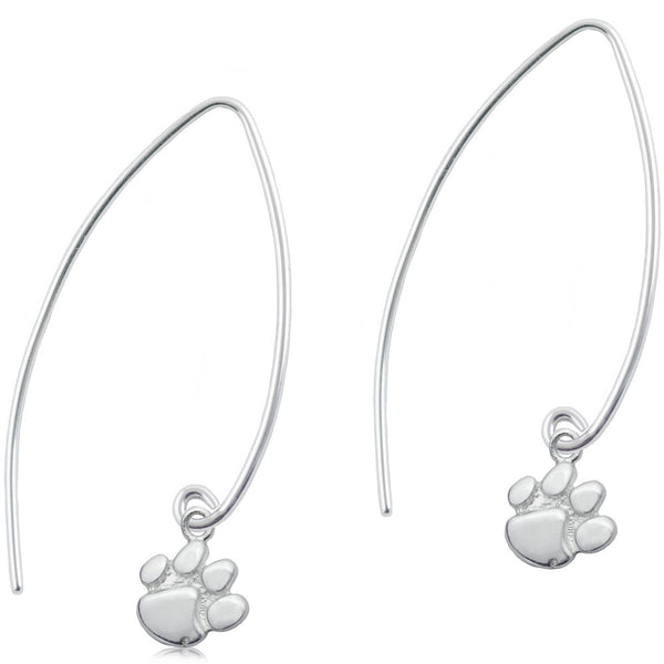 Collegiate Clemson University Long Fishhook Earrings