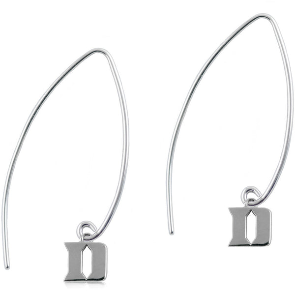 Collegiate Duke University Long Fishhook Earrings