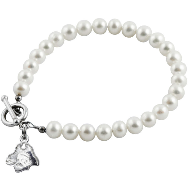 Collegiate East Carolina University White Freshwater Pearl Bracelet