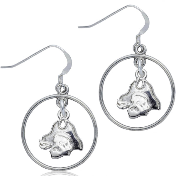 Collegiate East Carolina University Pirates Open Drop Earrings
