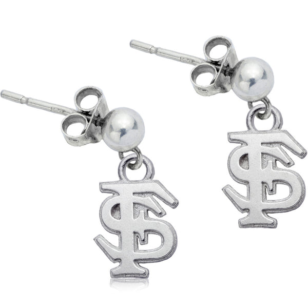 Collegiate Florida State University Logo Post Dangle Earrings