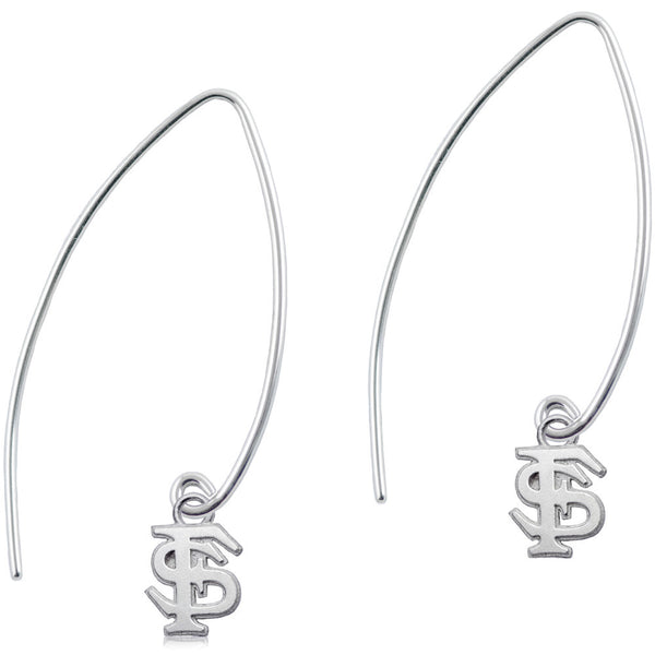 Collegiate Florida State University Long Fishhook Earrings