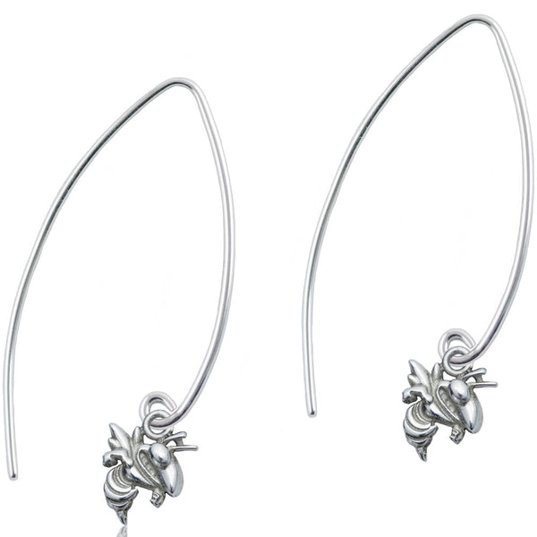 Collegiate Georgia Tech University Long Fishhook Earrings