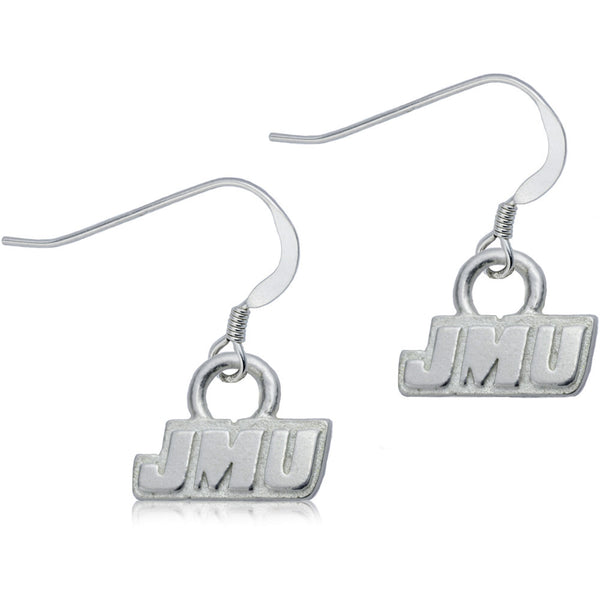 Collegiate James Madison University Logo Dangle Earrings