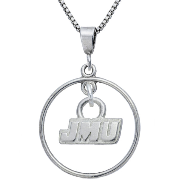 Collegiate James Madison University Open Drop Necklace