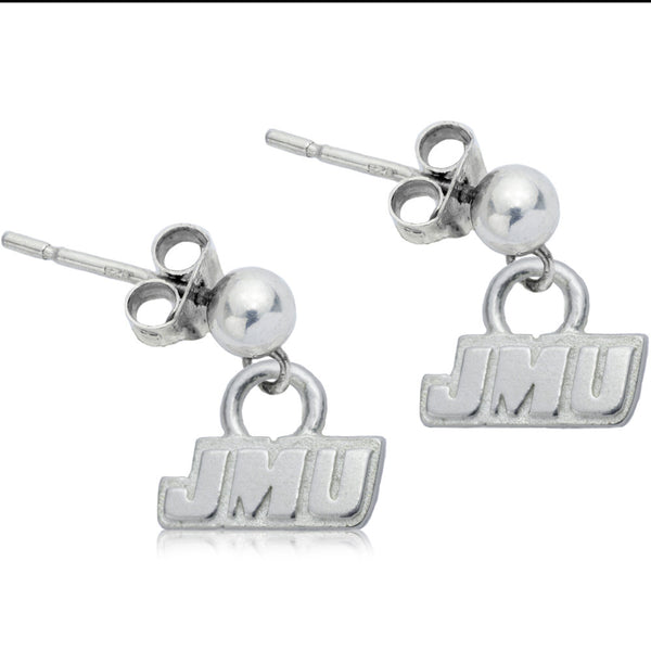 Collegiate James Madison University Post Dangle Earrings
