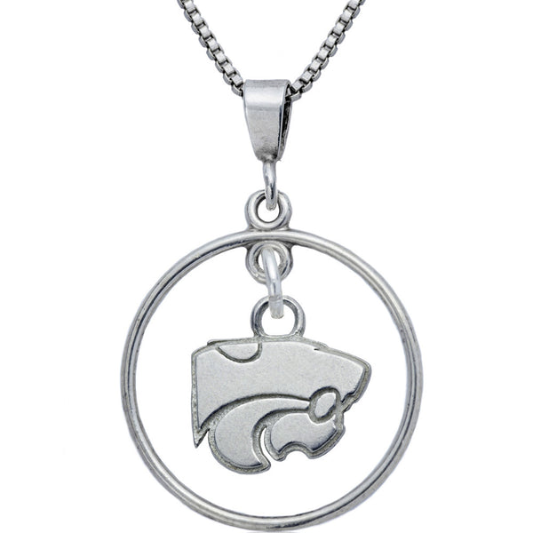Collegiate Kansas State University Wildcat Open Drop Necklace