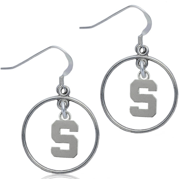 Collegiate Michigan State University Open Drop Earrings