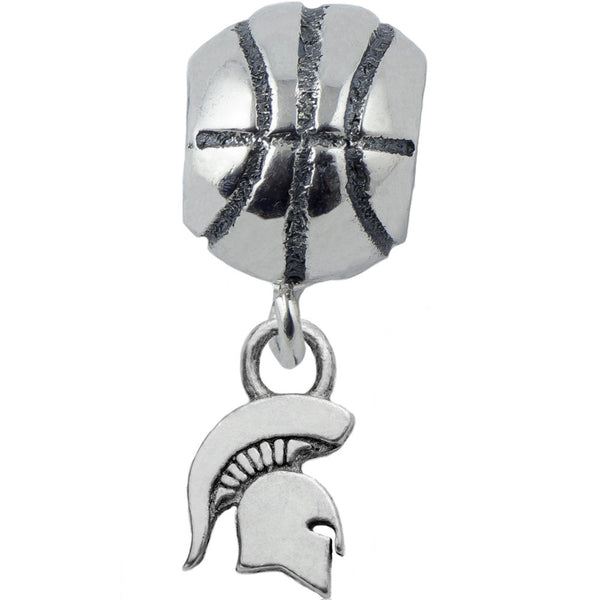 Collegiate Michigan State University Spartan Basketball Slider Bead