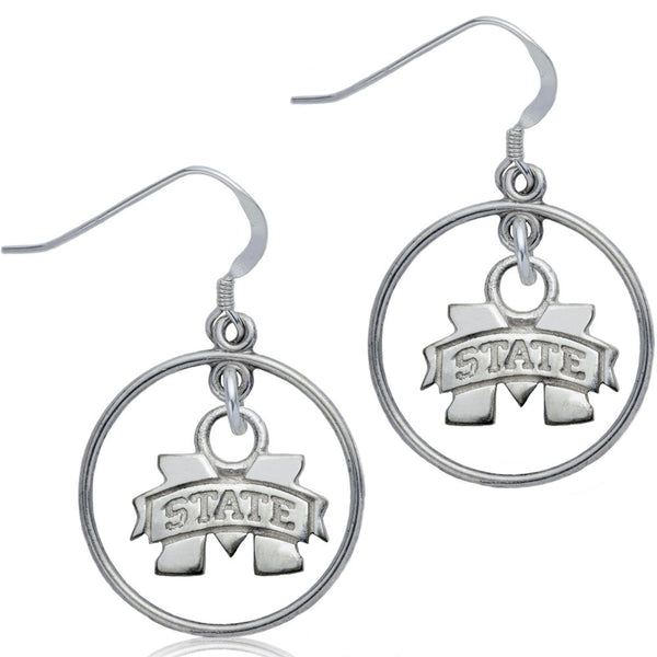 Collegiate Mississippi State University Open Drop Earrings