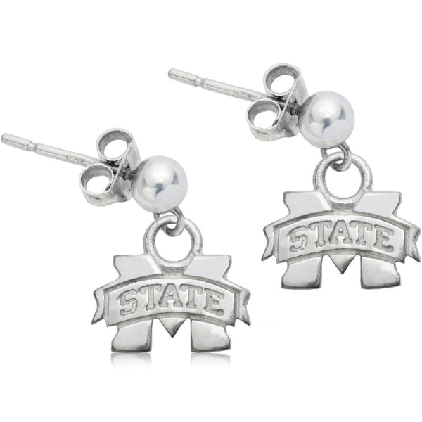 Collegiate Mississippi State University Post Dangle Earrings