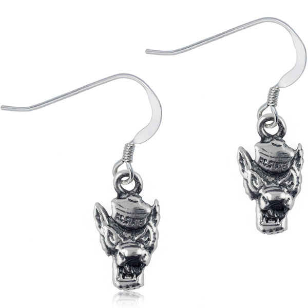 Collegiate North Carolina State University Dangle Earrings