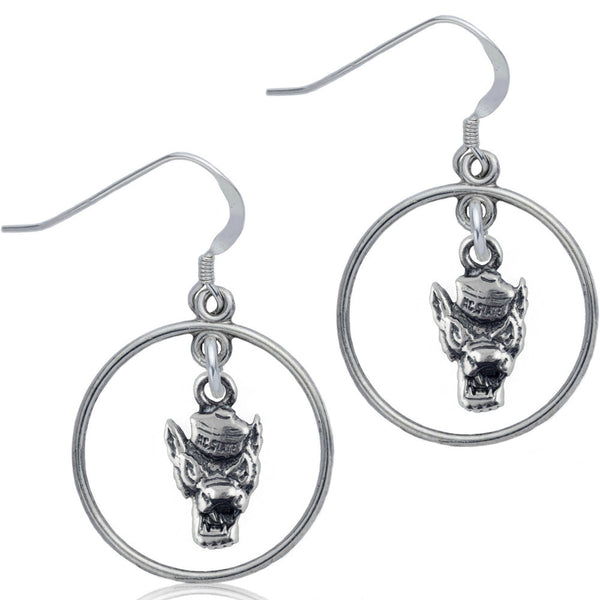 Collegiate North Carolina State University Wolfpack Open Drop Earrings