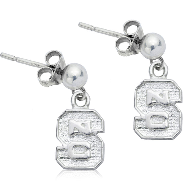 Collegiate NC State University Logo Post Dangle Earrings