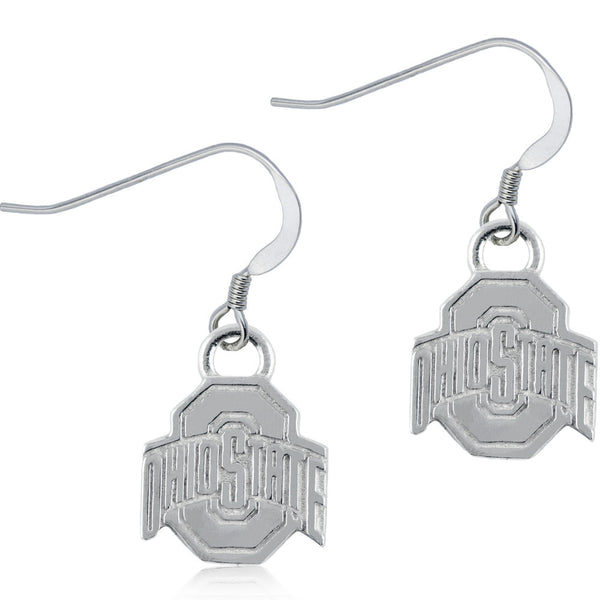 Collegiate Ohio State University Logo Dangle Earrings