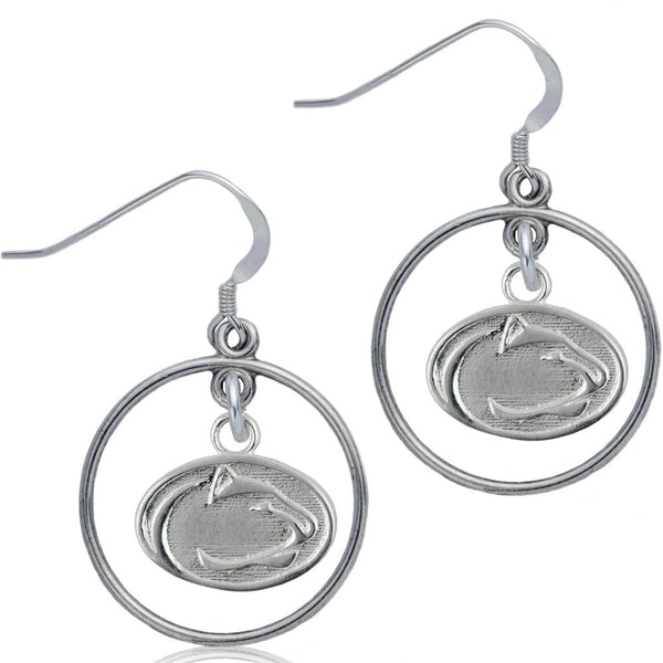 Collegiate Penn State University Nittany Lions Open Drop Earrings